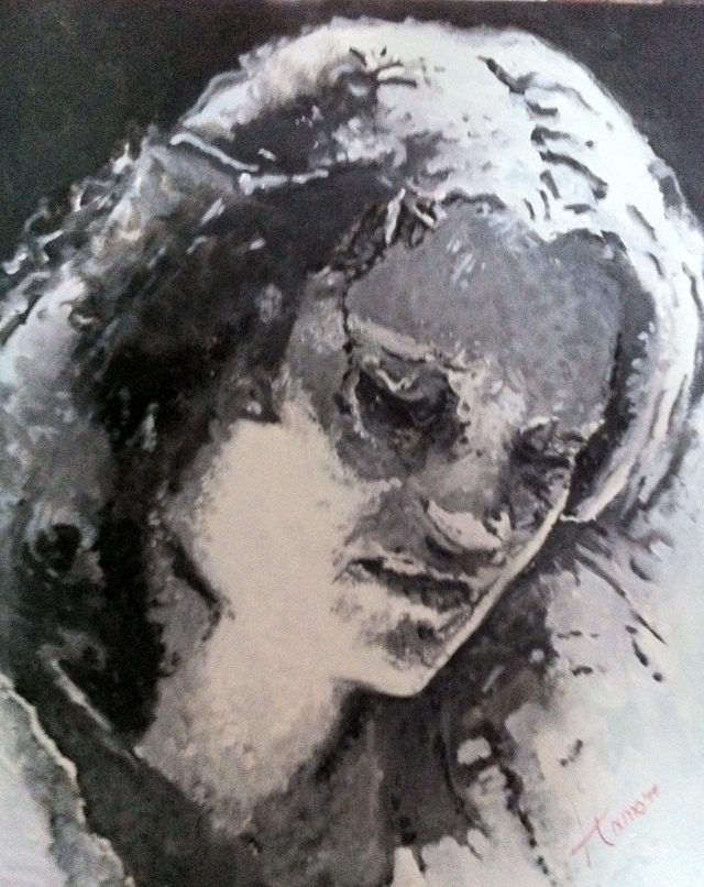 Pixel, olieverf op canvas, 60x40cm, 2012