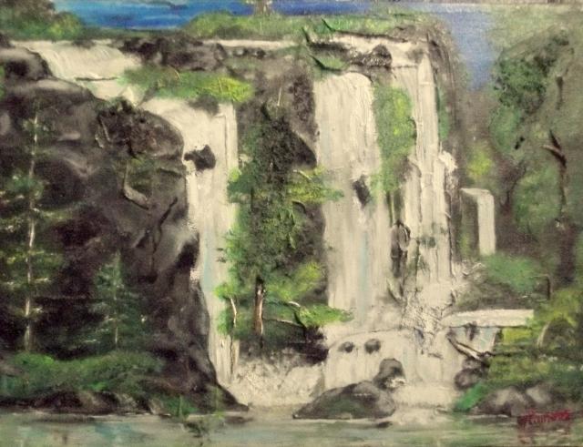 waterfalls, olieverf op canvas, 50x35cm, 2015
