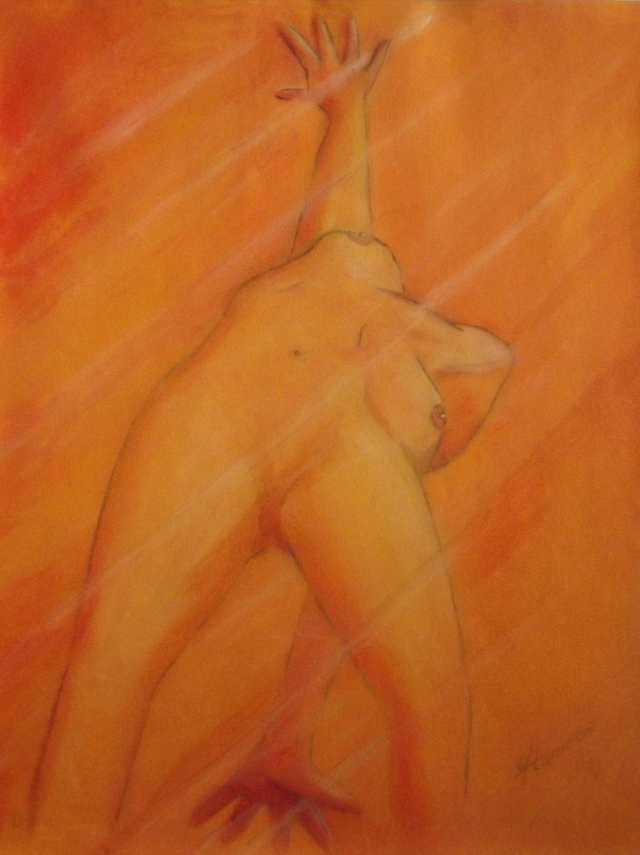 woman sketch, study, acryl on paper, 70x50cm, 2006