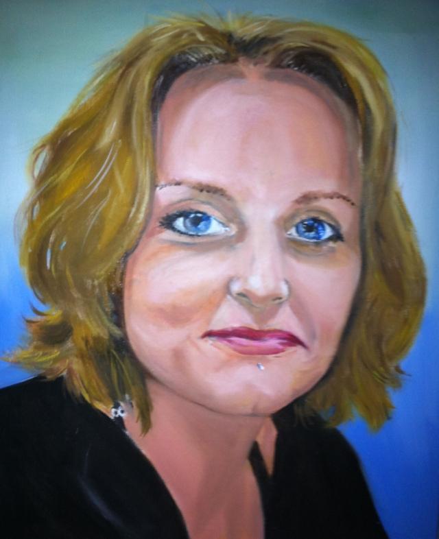 Portret, olieverf op linnen, 60x40cm, 2013