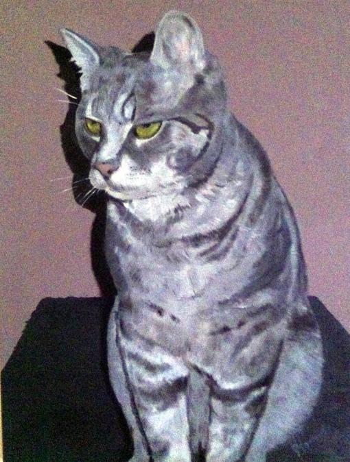 Portret Binky, olieverf op canvas, 70x50cm, 2011